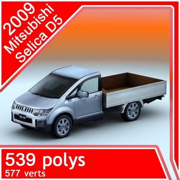 2009 mitsubishi selica d5 3d model
