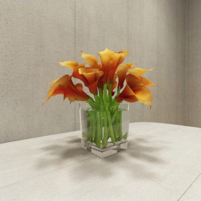 3ds contemporary flower arrangement