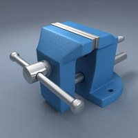 3d bench clamp model
