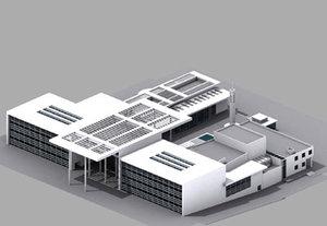 culture centre interior building 3d max