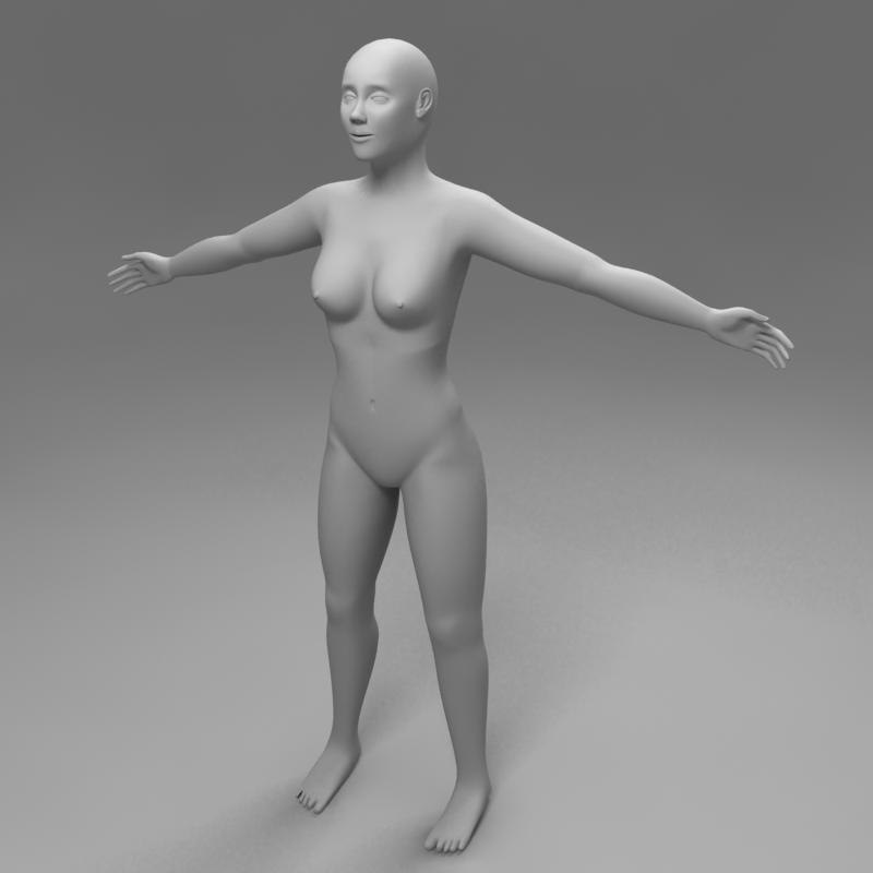 3d female woman model
