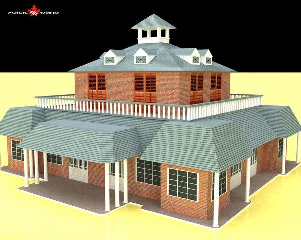 3d club house model