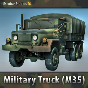 3ds max military m35 cargo truck