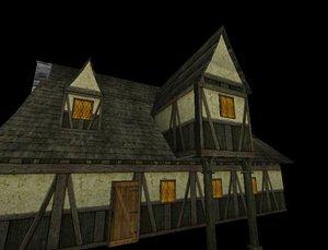 3d medieval tavern model