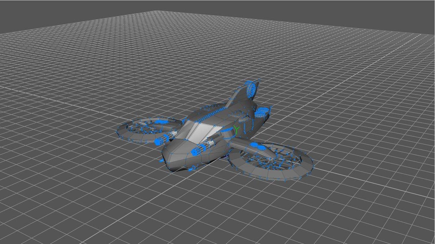futuristic choppers 3ds