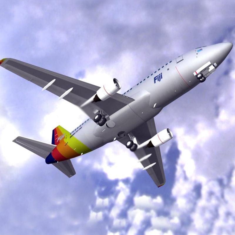 air pacific 737-700 plane 3d xsi