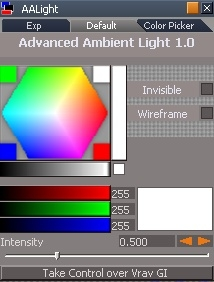 maya truespace ambient light advanced