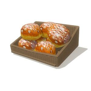 3d bread basket 1 model