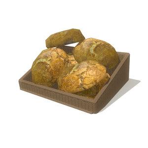 3d model bread basket 2