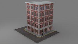 3d office building block