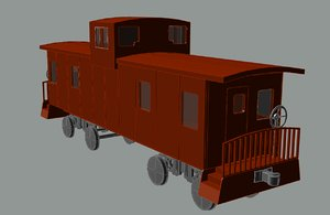 3d model caboose solid