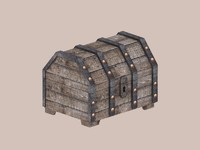 3d model treasure chest