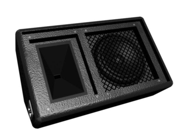 stage floor monitor speaker 3d model