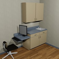 3dsmax exam room cabinet