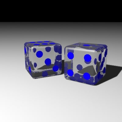 3d model dices refraction