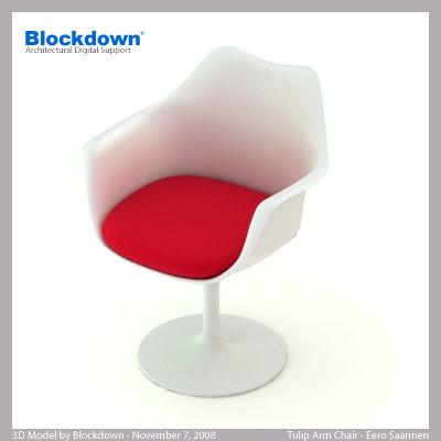 eero saarinen knoll chair 3d model