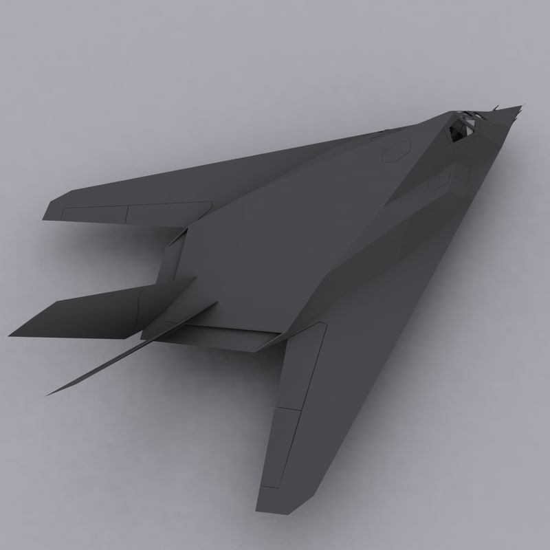 usa f117 nighthawk 3d model