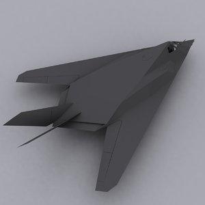 usa f117 nighthawk 3d model