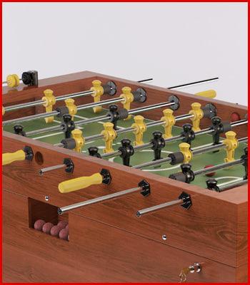 3d model realistic foosball table