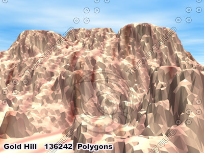 3ds max gold hill terrains