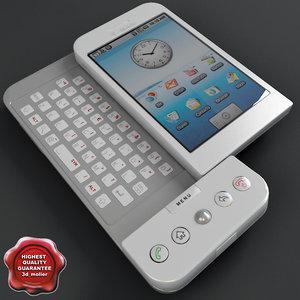 google phone t-mobile g1 3d model
