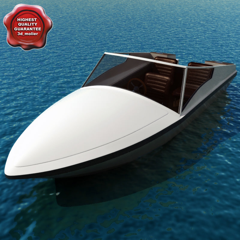 high-speed boat afalina 3d model