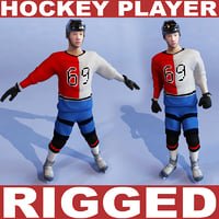 Hockey player (RIGGED)
