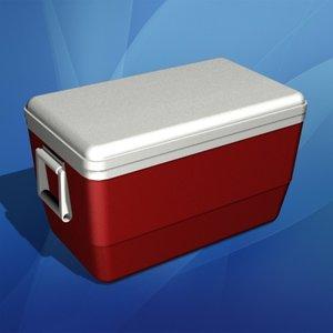 3d model igloo cooler