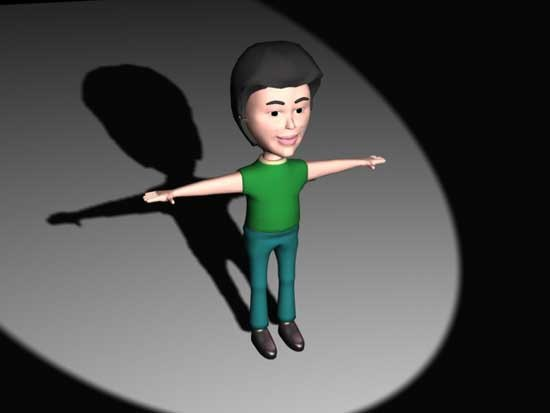 3d model cartoon character