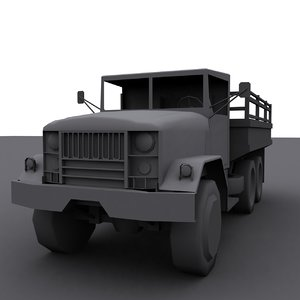 3dsmax usa truck m35