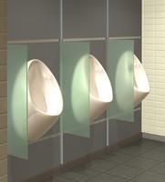 mens urinal 3d model