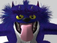 3d model dave hairy monster hair fur