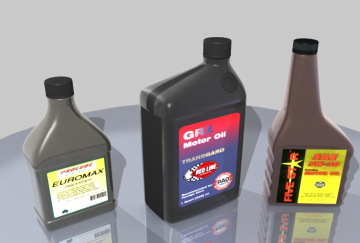 3ds max motor oil containers
