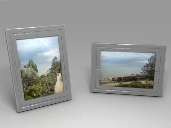 3d photo frames portrait landscape model