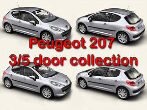 3d peugeot 207 3 5 model