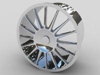 alloy car wheel 3d max