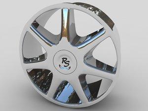 alloy rs car wheel 3d model
