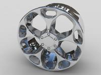 maya alloy car wheel