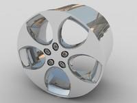 3d alloy car wheel model