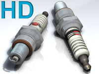 3d c4d spark plugs