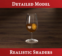 3d sherry glass liquid