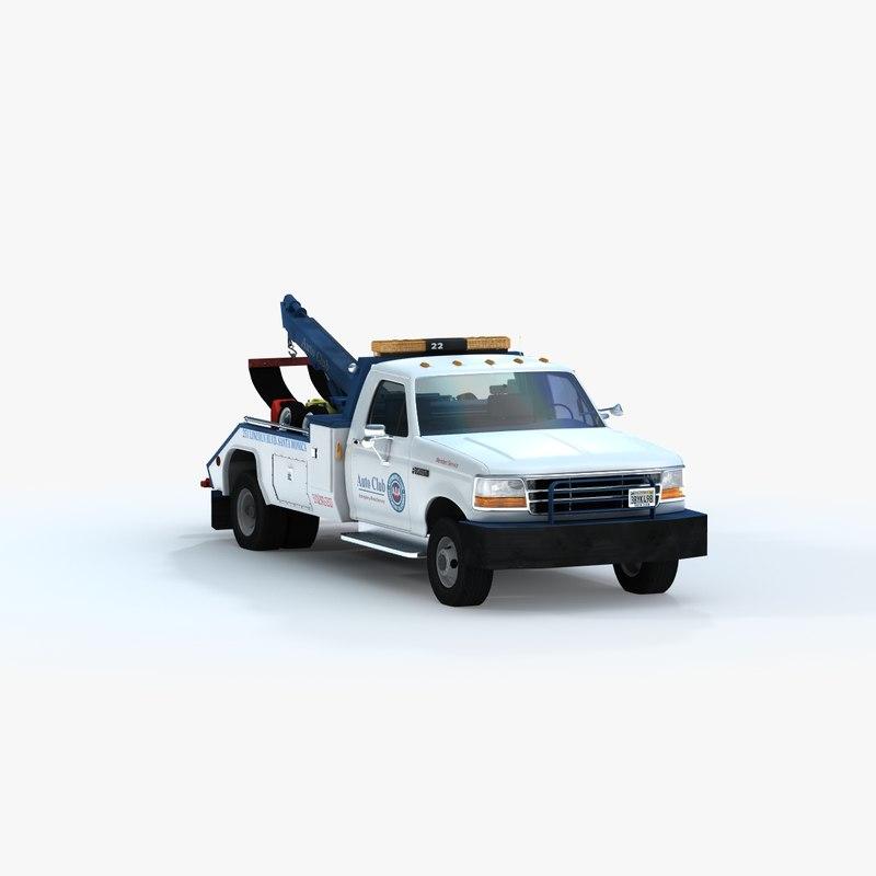 auto tow truck 3d model