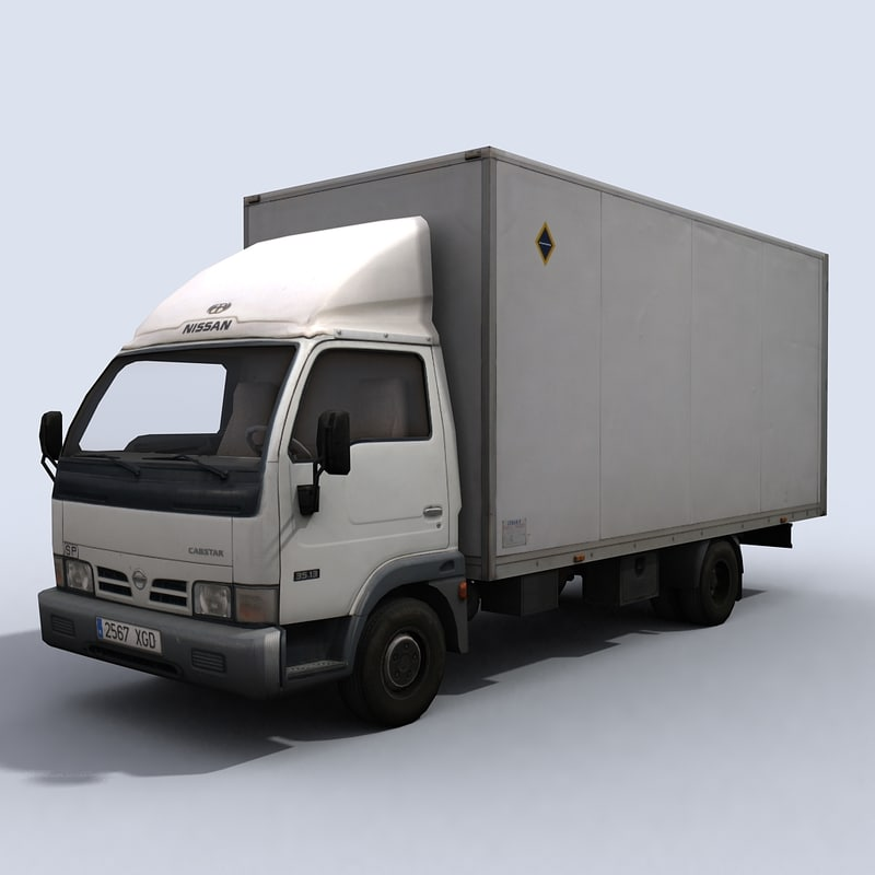3d small transport truck 2