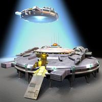 3d ufo model