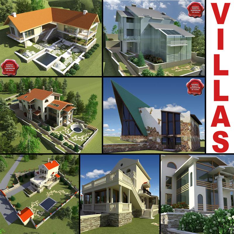 3d model villas vol3