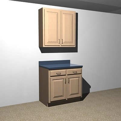 3d kitchen cabinets - 36