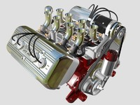 3d ardun flathead v8 engine model