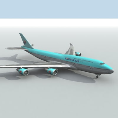 korean air 3d model