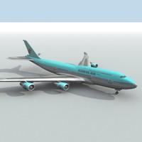 korean air 3d model