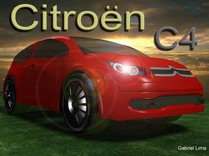 free citroen c4 3d model